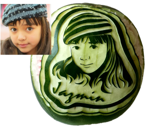 Watermelon Picture Carving